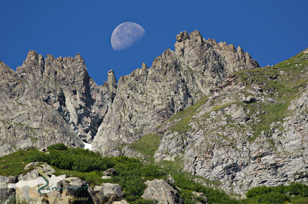 Moon over the Alps